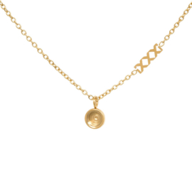 Necklace Chain Base, 40cm. Goud
