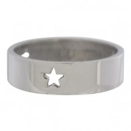 3 Stars Open Symbol. Zilver