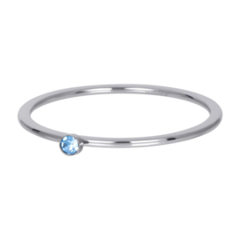 Light Sapphire 1 stone Crystal , Zilver