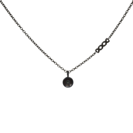 Necklace Chain Base, 40cm. Zwart