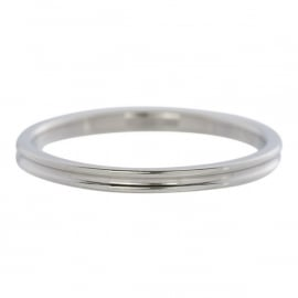 Ribbed.  Zilver