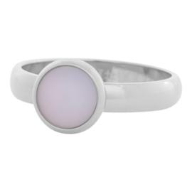 10mm. Mat Pink Stone, Zilver.