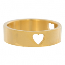 3 Hearts Open Symbol. Goud