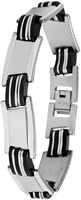 Edelstaal Schakel Armband met Rubber elementen TA-5012
