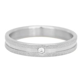 Sandblasted Crystal stone. Zilver