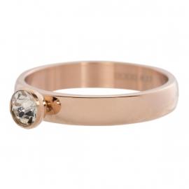 Zirconia 1 stone Crystal. Rosé