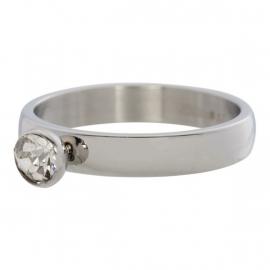 Zirconia 1 stone Crystal. Zilver