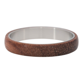 Wood Dark Brown. Zilver