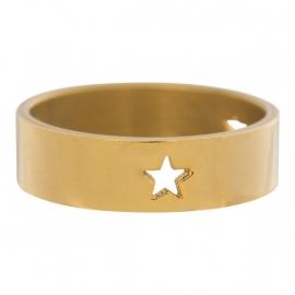 3 Stars Open Symbol. Goud