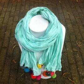 Sjaal met POM-POM's    Mint   THAILAND 1