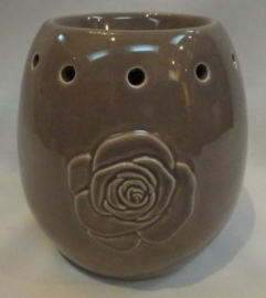 Oil Burner Globe Rose Taupe