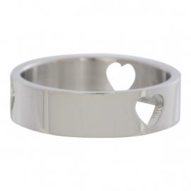 3 Hearts Open Symbol. Zilver