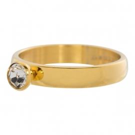 Zirconia 1 stone Crystal. Goud