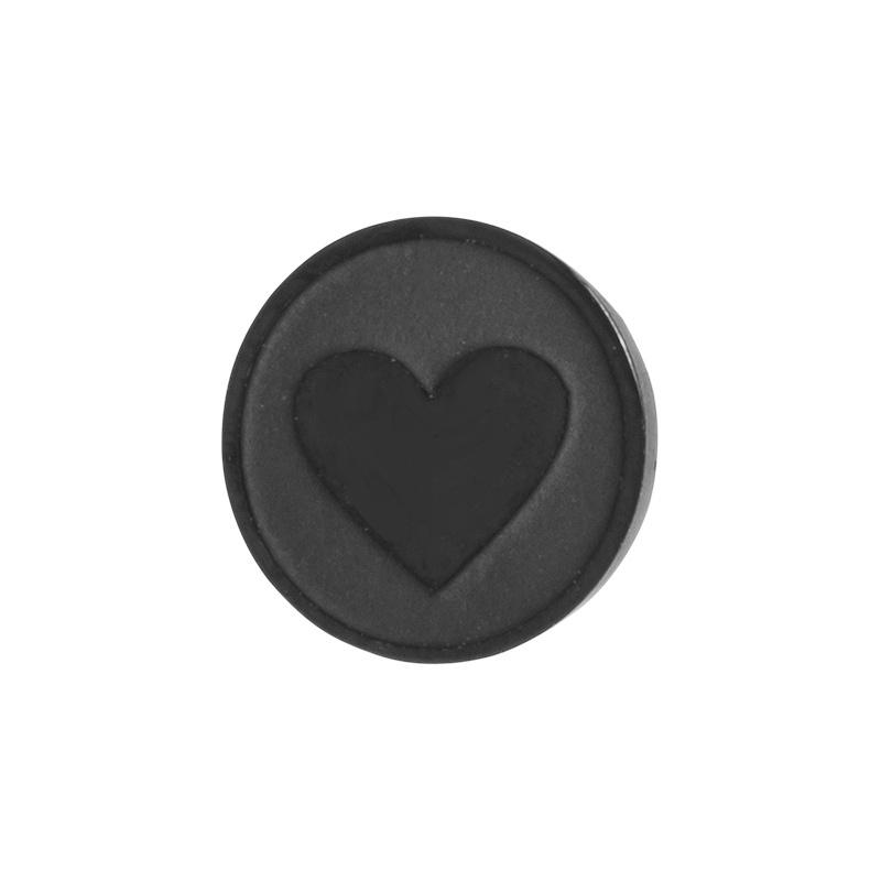 Heart.  Zwart