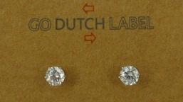763 Rhodium/Crystal  4mm