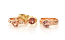 Zircon & red gold
