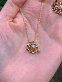 Parel & roze diamant