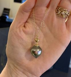 Tahitian pearl & heart