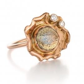Labradorite & diamonds(Sold!)
