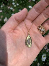 Boulder opaal & diamant(Verkocht!)