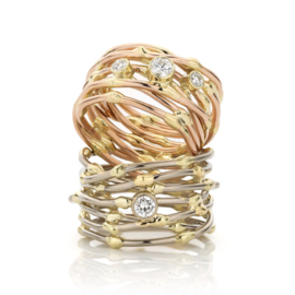 """Threads of life"" ring"