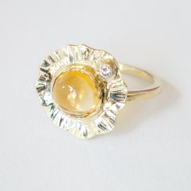 Citrien & diamant (Verkocht!)