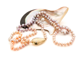 Ombre pearls & diamonds(Sold!)