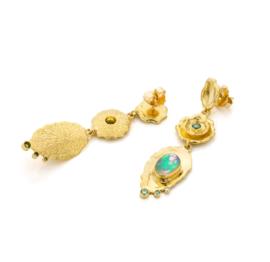 Opaal & groene diamant - Prijs op aanvraag -