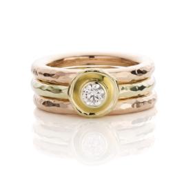 Stapel ring & diamant (Verkocht!)