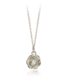 Small pendant whitegold & diamond