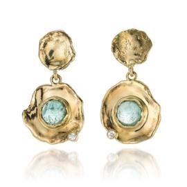 Fairtrade goud met toermalijn & diamant (Verkocht!)