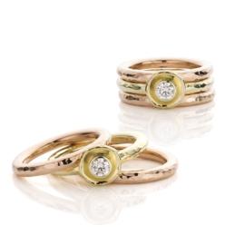 Stacking ring & diamond (Sold!)