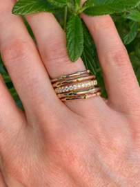"""Threads of life"" stacking ring"
