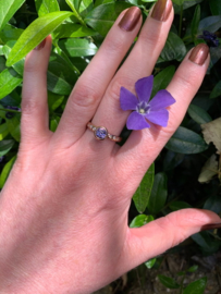Lila korund & diamant