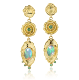 Welo Opal & green diamonds - Price upon request -