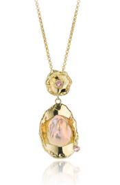 Keshi pearl & tourmaline(Sold!)