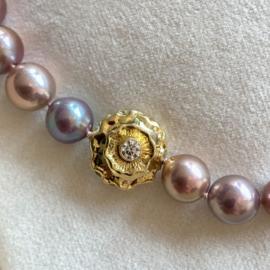 Edison parel  collier & diamant - Prijs op aanvraag -