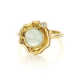 Tourmaline & diamond (Sold!)