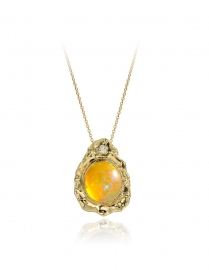 Opal & diamond in Fairtrade gold