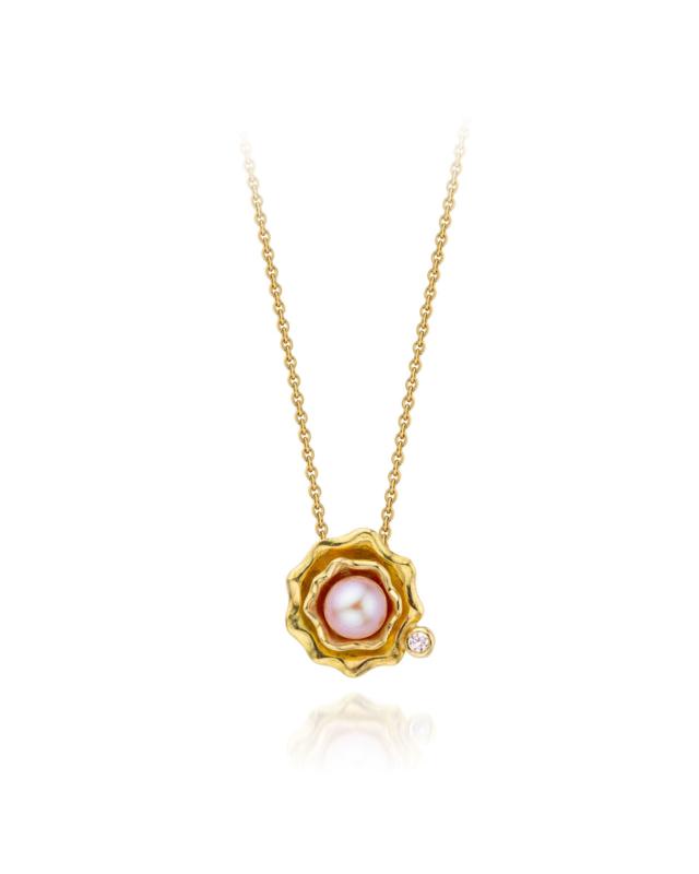 Pearl & pink diamond