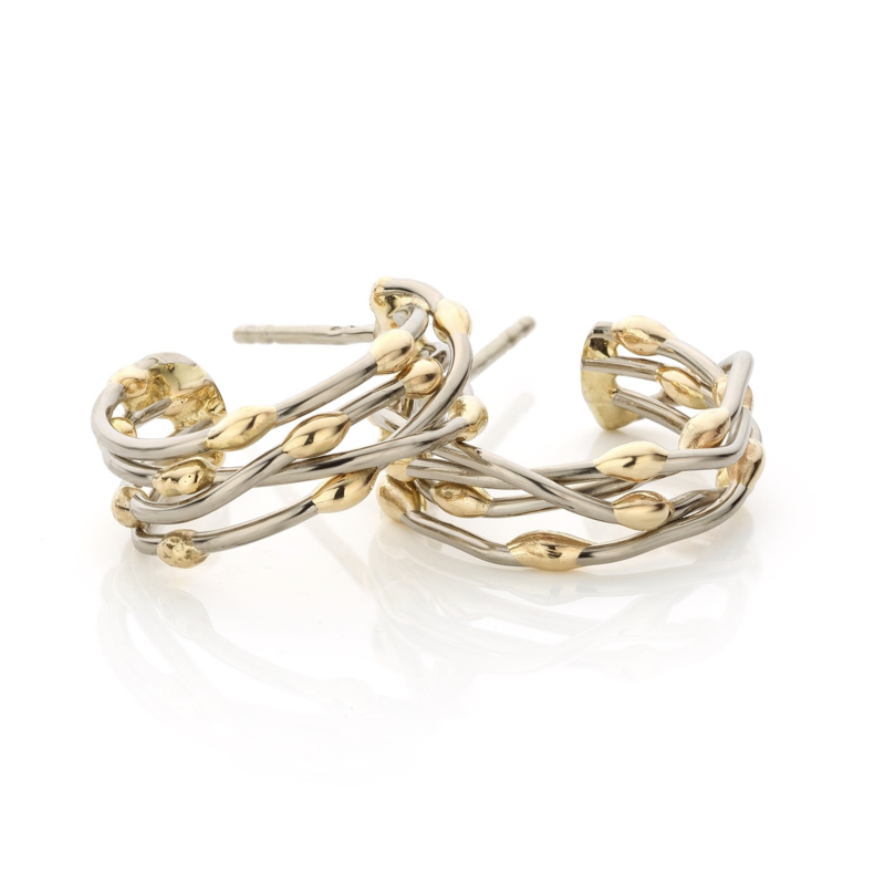 "Fairtrade gold ""Threads of life"" earrings (Sold!)"