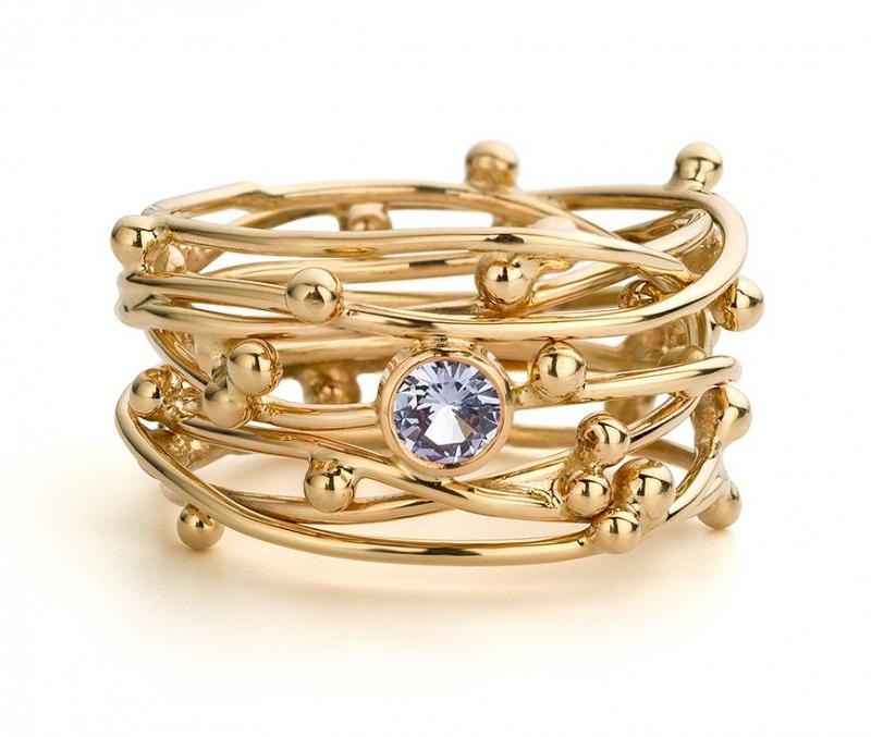 """Fairtrade """"De draden van het leven"""" ring (Verkocht!)"""