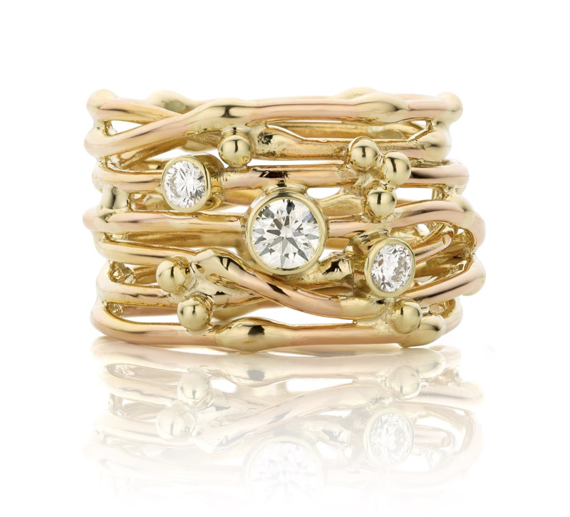 """""""Threads of life"""" ring"""