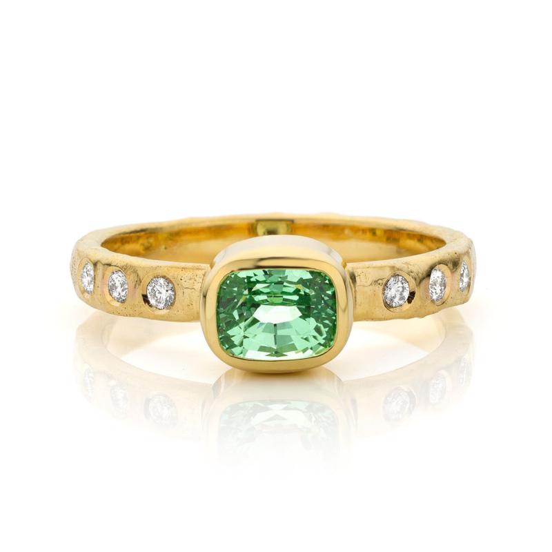 Mint granaat & diamant