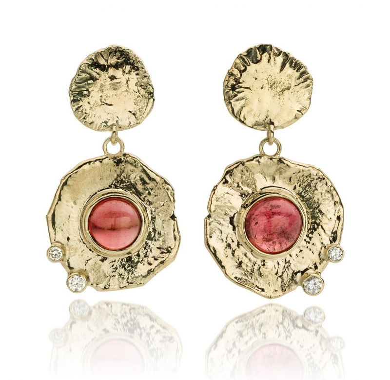 Tourmaline & diamonds(Sold!)