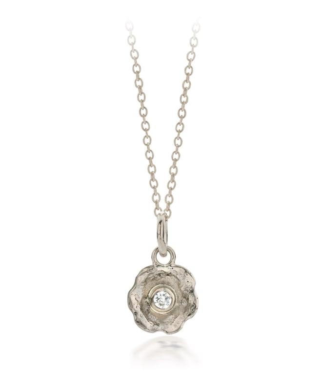 Small pendant whitegold & diamond