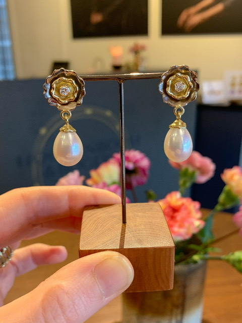 Zoetwater parel & diamant