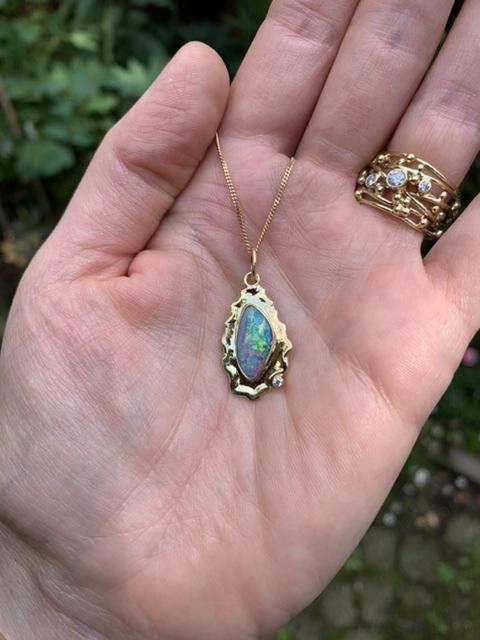 Boulder opaal & diamant