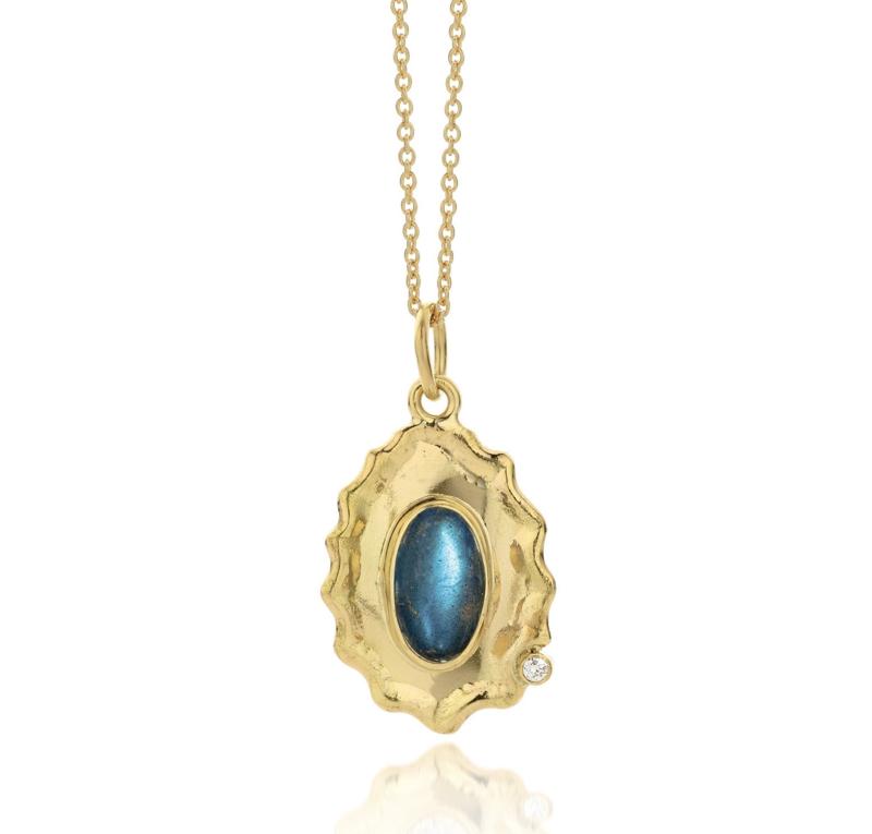 Labradorite & diamond (Sold!)