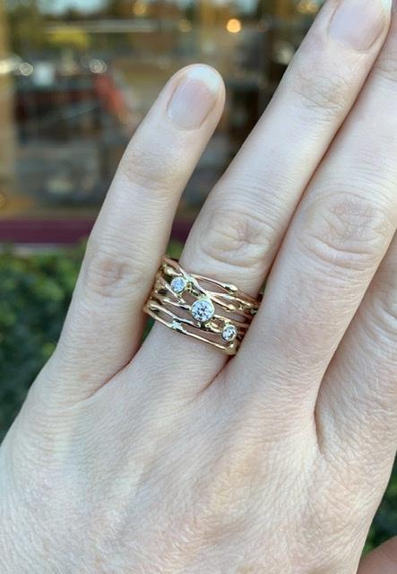 """""""De draden van het leven"""" ring (Verkocht!)"""